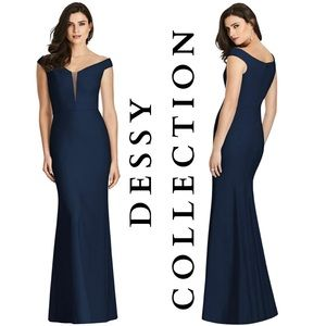 NEW Dessy Collection Off-the-Shoulder Trumpet Gown